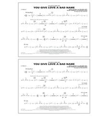 You Give Love a Bad Name - Cymbals