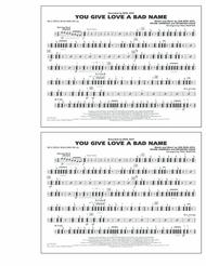 You Give Love a Bad Name - Multiple Bass Drums