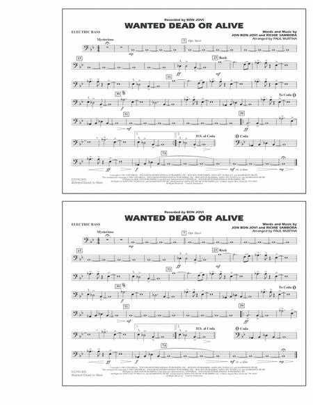 Wanted Dead or Alive - Electric Bass