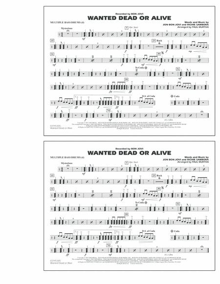 Wanted Dead or Alive - Multiple Bass Drums
