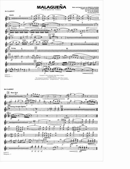 Malaguena - Bb Clarinet