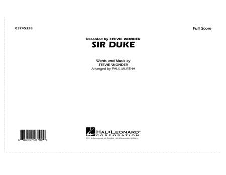 Sir Duke - Full Score