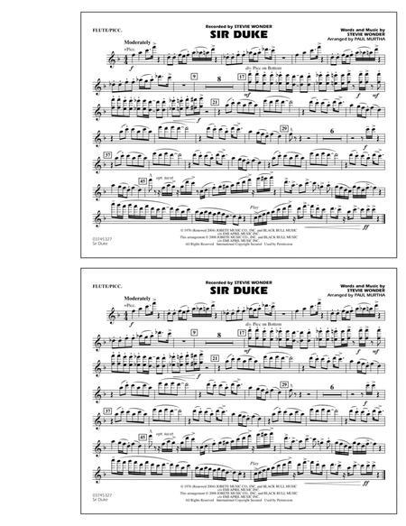 Sir Duke - Flute/Piccolo