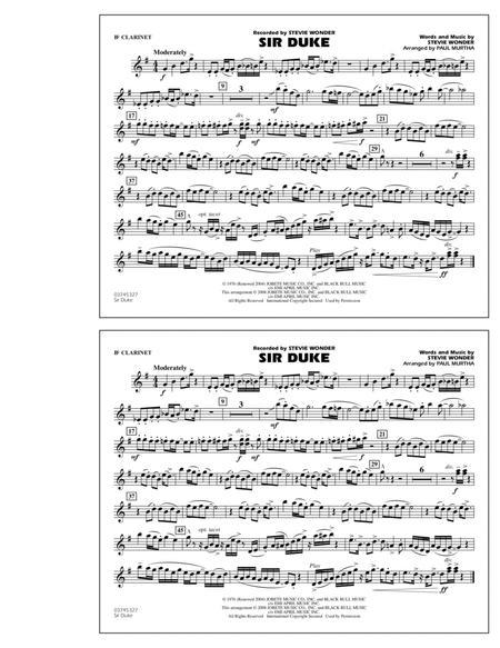Sir Duke - Bb Clarinet