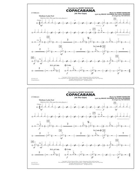 Copacabana (At the Copa) - Cymbals