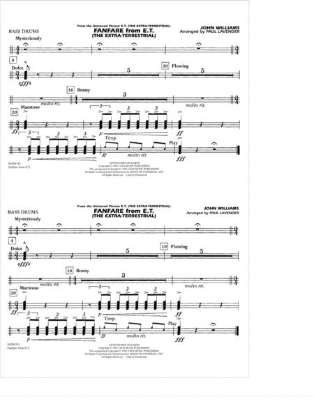 Fanfare from E.T. (The Extra-Terrestrial) - Multiple Bass Drums