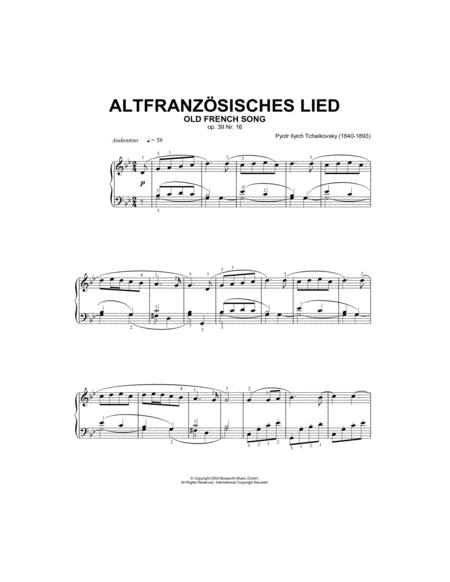 Old French Song, Op.39, No.16