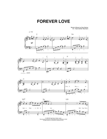 Download Forever Love Sheet Music By Gary Barlow Sheet Music Plus