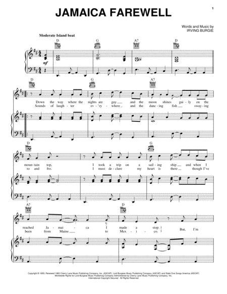 Download Jamaica Farewell Sheet Music By Samuel E Wright Sheet
