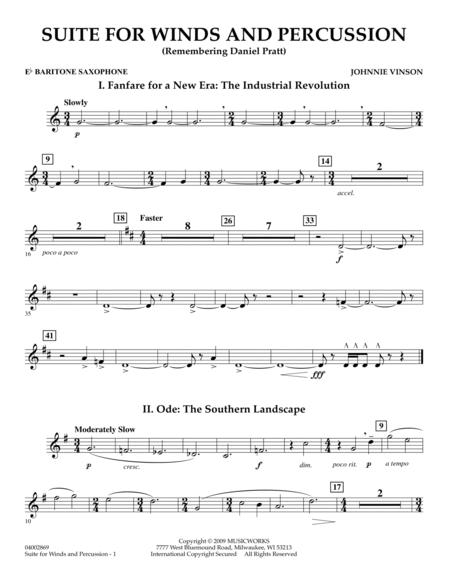 Suite for Winds and Percussion - Eb Baritone Saxophone