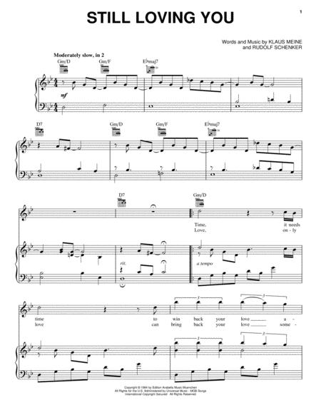 Download Still Loving You Sheet Music By The Scorpions Sheet Music