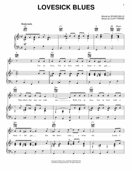 Download Lovesick Blues Sheet Music By Cliff Friend - Sheet