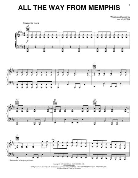 Download All The Way From Memphis Sheet Music By Mot The Hoople