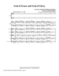 God Of Grace And God Of Glory - Full Score