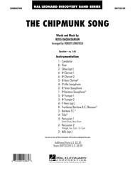 The Chipmunk Song - Conductor Score (Full Score)