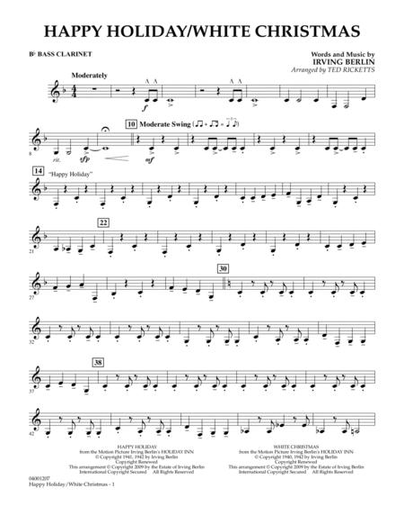Happy Holiday/White Christmas - Bb Bass Clarinet