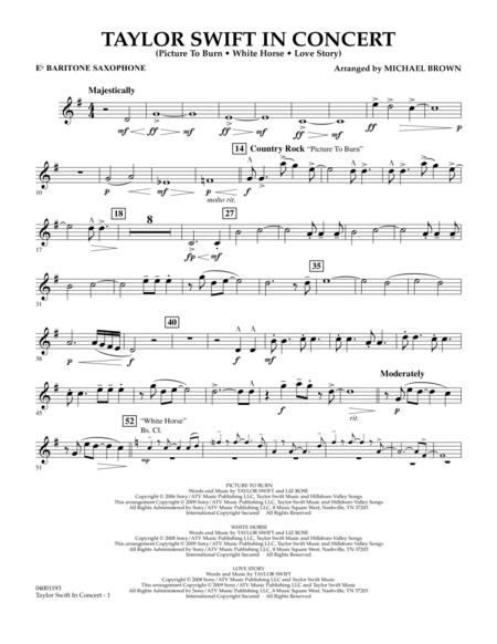 Taylor Swift - In Concert - Eb Baritone Saxophone