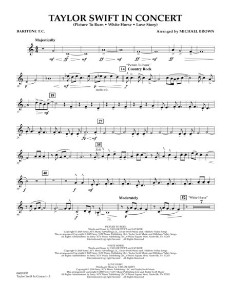 Taylor Swift - In Concert - Baritone T.C.