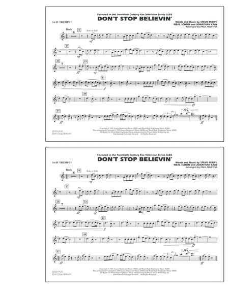 Don't Stop Believin' - 1st Bb Trumpet
