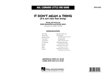 It Don't Mean a Thing (If It Ain't Got That Swing) - Conductor Score (Full Score)