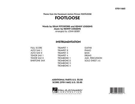 Footloose - Full Score