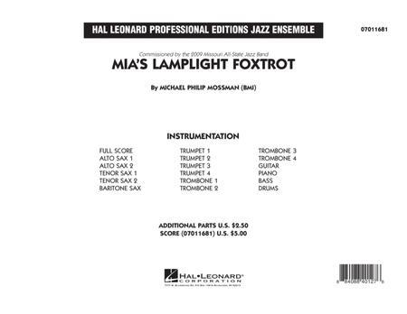 Mia's Lamplight Foxtrot - Conductor Score (Full Score)