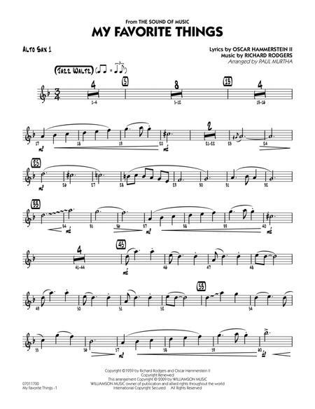 My Favorite Things - Alto Sax 1