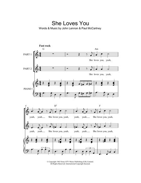 She Loves You Arr Rick Hein By Paul Mccartney And John Lennon Digital Sheet Music For Download Print Hx 130301 From Hal Leonard Digital Sheet Music At Sheet Music Plus