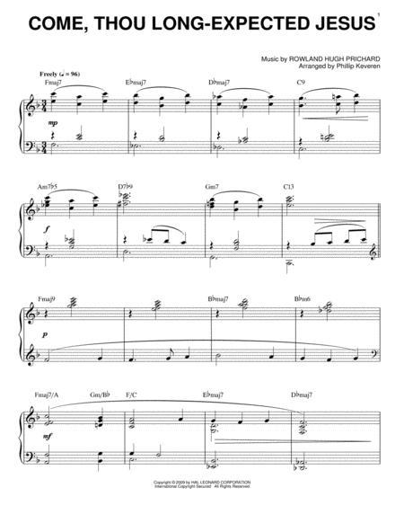 Come, Thou Long-Expected Jesus [Jazz version] (arr. Phillip Keveren)
