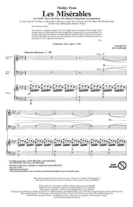 Les Miserables (Choral Medley) (arr. Ed Lojeski)