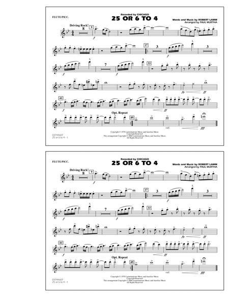 25 Or 6 To 4 - Flute/Piccolo