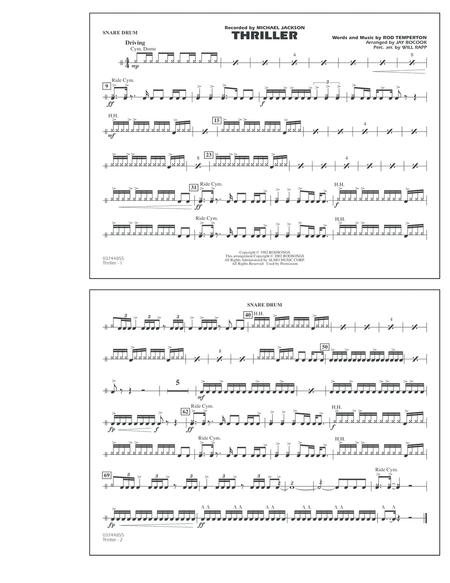 Thriller Marching Band Pdf