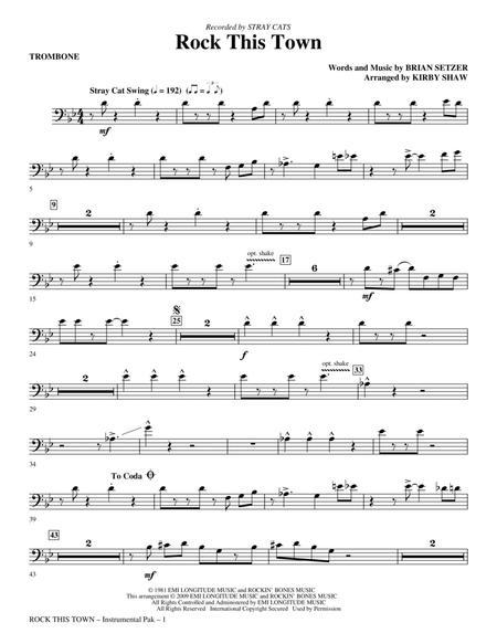 Rock This Town - Trombone