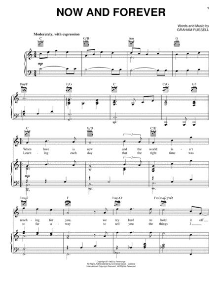 Download Now And Forever Sheet Music By Air Supply - Sheet Music Plus