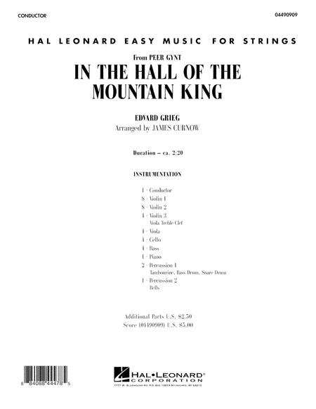 In the Hall of the Mountain King - Full Score