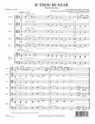 If Thou Be Near (Bist Du bei Mir) - Full Score