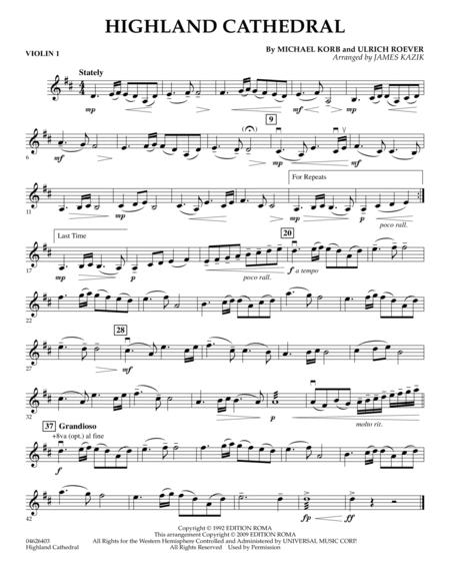 Highland Cathedral - Violin 1