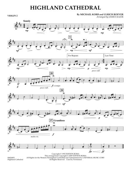 Highland Cathedral - Violin 2