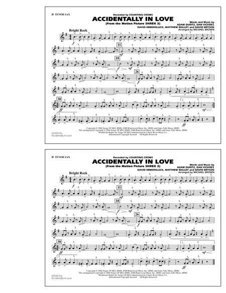 Accidentally In Love - Bb Tenor Sax
