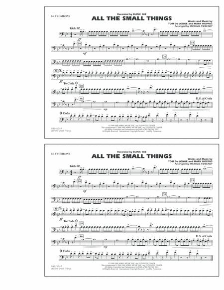 All The Small Things - 1st Trombone