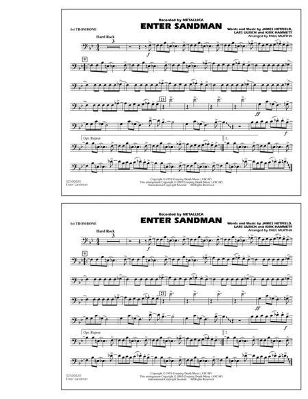 Enter Sandman - 1st Trombone