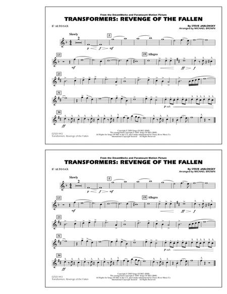 Transformers: Revenge Of The Fallen - Eb Alto Sax