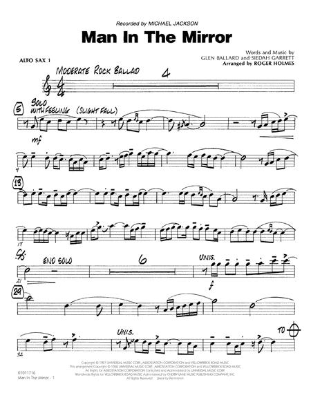 Download Man In The Mirror Alto Sax 1 Sheet Music By Michael