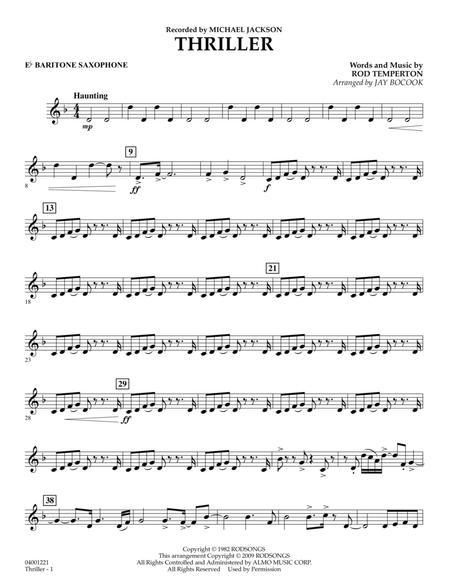 Thriller - Eb Baritone Saxophone