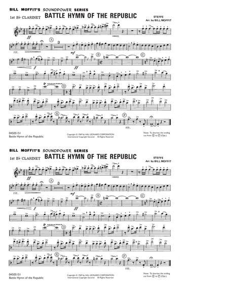 Battle Hymn Of The Republic - 1st Bb Clarinet
