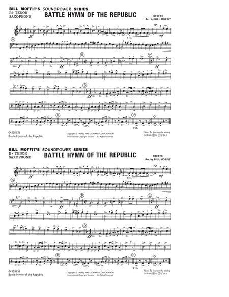 Battle Hymn Of The Republic - Bb Tenor Saxophone