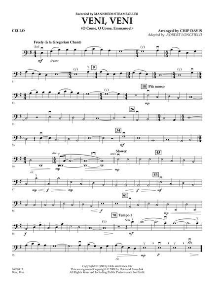 Veni, Veni (O Come, O Come Emmanuel) - Cello