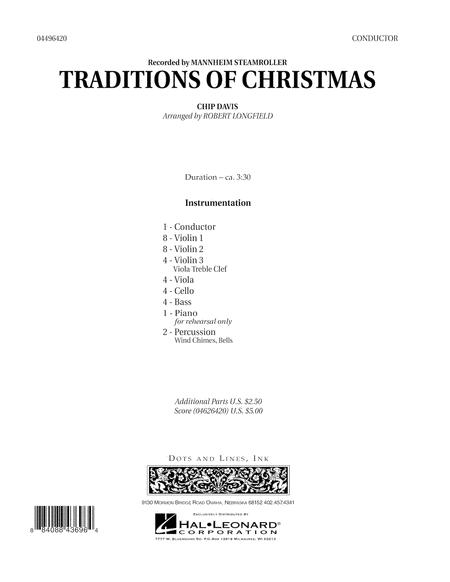 Traditions of Christmas - Full Score