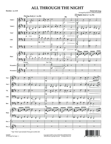 All Through The Night - Full Score