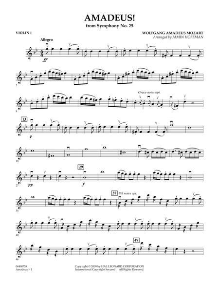 Download Amadeus! - Violin 1 Sheet Music By Wolfgang Amadeus